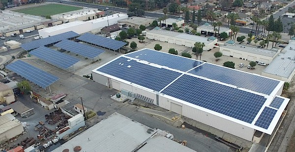 1-MW installation on California Goodyear Rubber Manufacturing Facility by REP Solar with Yaskawa – Solectria Solar PV inverters.