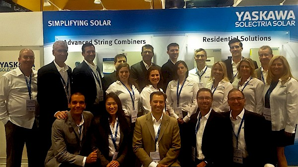 Our team on the show floor at SPI 2016 prior to the show start on Tuesday, 9/13.