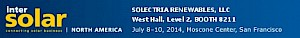 Solectria Renewables to Exhibit at Intersolar North America 2014
